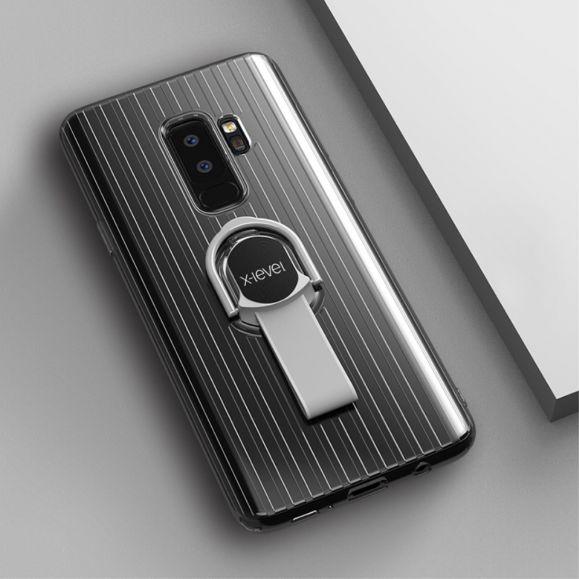 Coque Samsung Galaxy S9 Plus transparente avec anse - Blanc