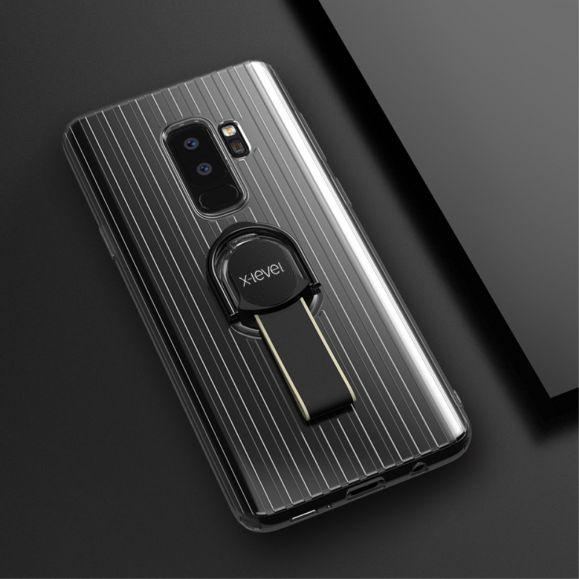 Coque Samsung Galaxy S9 Plus transparente avec anse - Noir