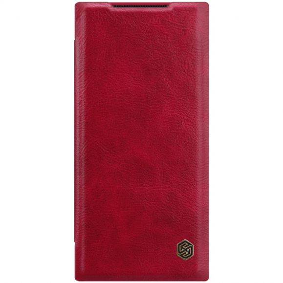 Housse Samsung Galaxy Note 20 Ultra Qin Effet Cuir - Rouge