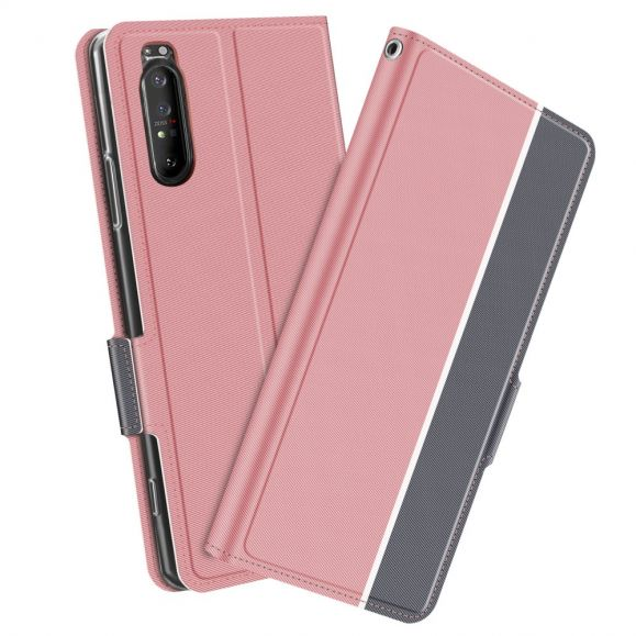 Housse Sony Xperia 1 II Victoria style cuir - Rose