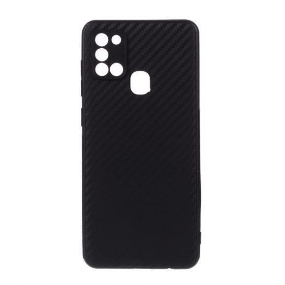 Coque Samsung Galaxy A21s aspect fibre de carbone