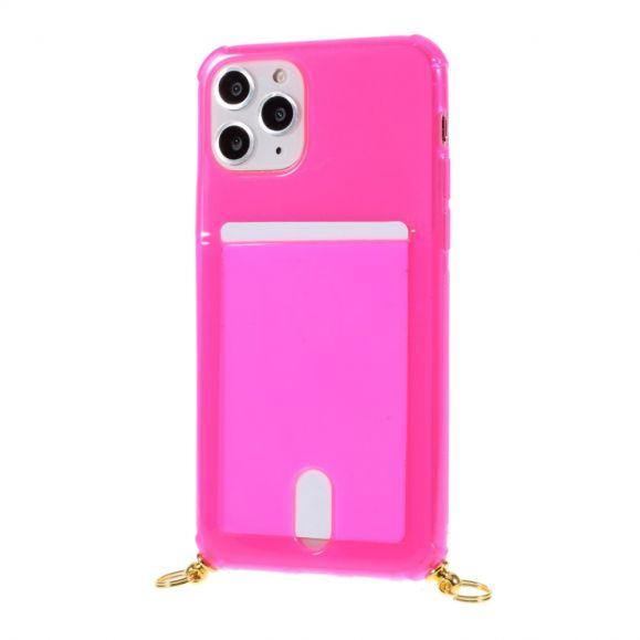 Coque iPhone 11 Pro porte carte avec cordon bandoulière