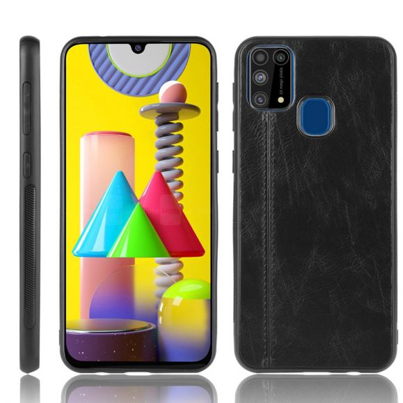 Coque Samsung Galaxy M31 Effet Cuir Coutures