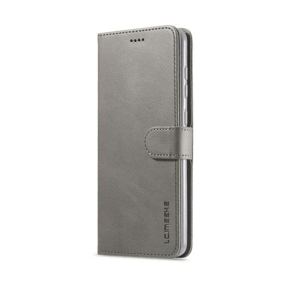 Étui Samsung Galaxy A21s Tommy Style Effet Cuir - Gris