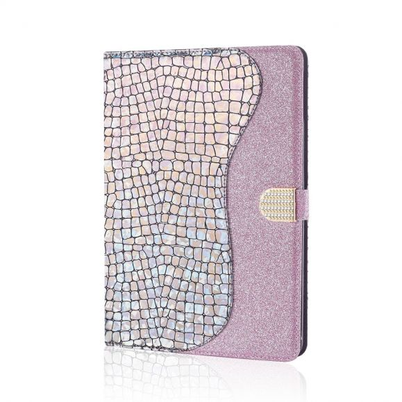 Housse Samsung Galaxy Tab S6 Glamour effet croco paillettes