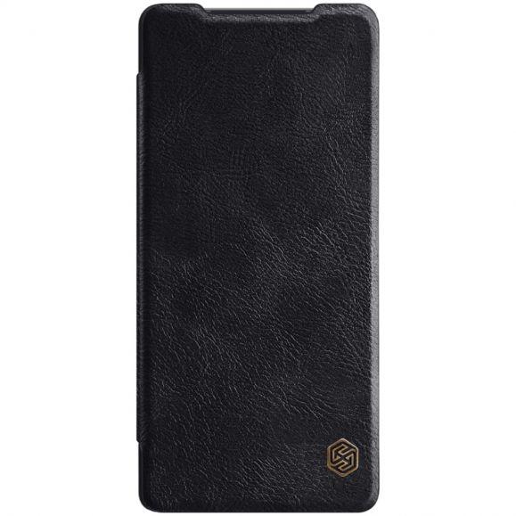 Housse Samsung Galaxy Note 20 Qin Effet Cuir - Noir