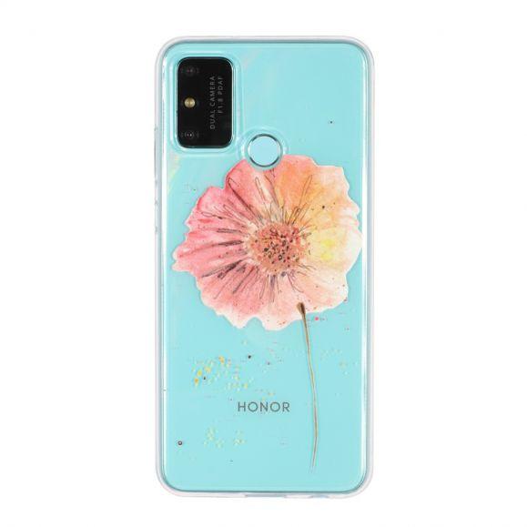 Coque Honor 9A fleur aquarelle