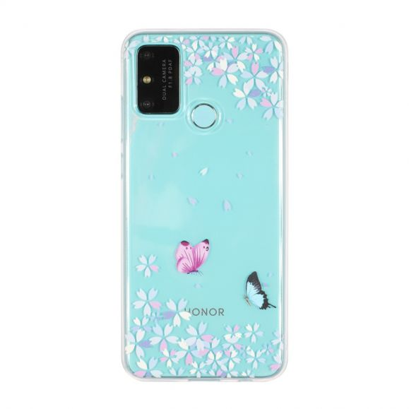 Coque Honor 9A Papillons Florets