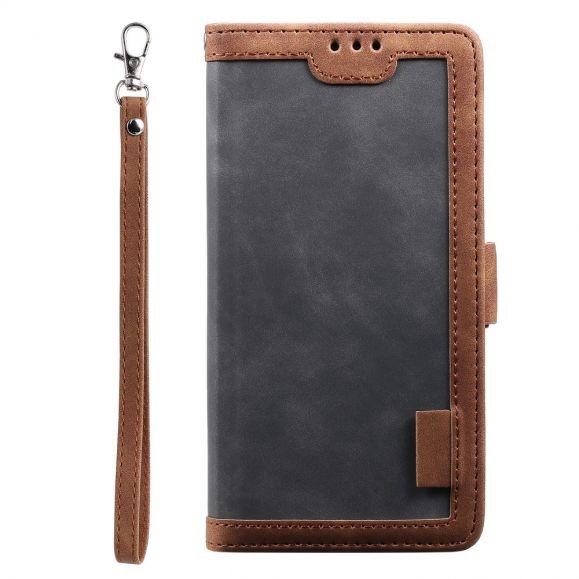 Housse Samsung Galaxy Note 20 Vintage Porte Cartes à Lanière