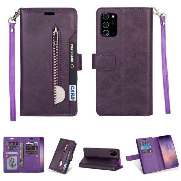 Housse Samsung Galaxy Note 20 Porte Cartes Simili Cuir à Lanière