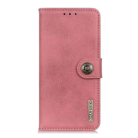 Housse Samsung Galaxy Note 20 Ultra KHAZNEH Effet Cuir Porte Cartes - Rose