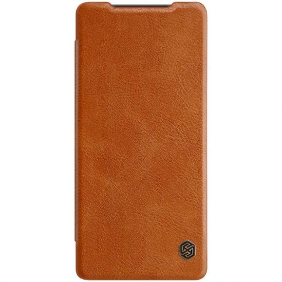 Housse Samsung Galaxy Note 20 Qin Effet Cuir - Havane