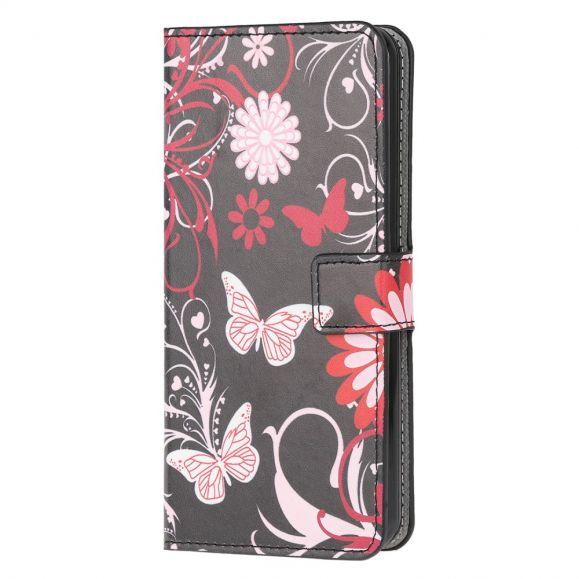 Housse Samsung Galaxy Note 20 Papillons et Fleurs