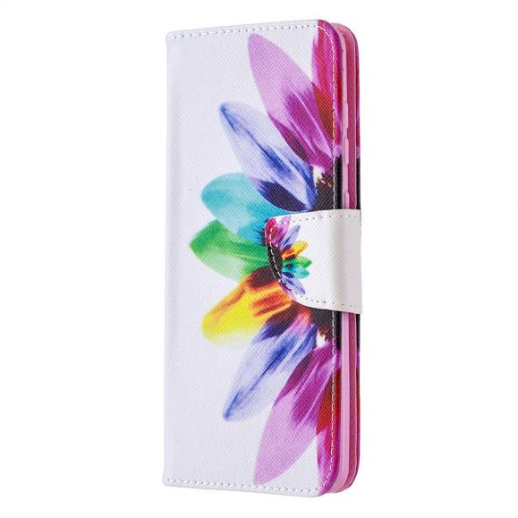 Étui Samsung Galaxy A21s pétales colorés