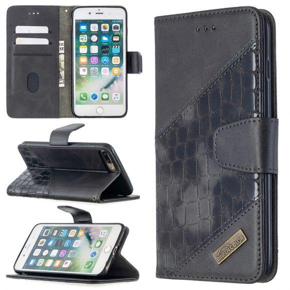 Housse iPhone 8 Plus / 7 Plus Effet Cuir Aspect Croco