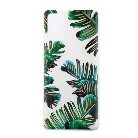 Coque Samsung Galaxy A41 feuilles vertes