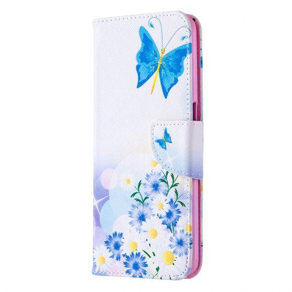 Étui Oppo A72 papillon et marguerites