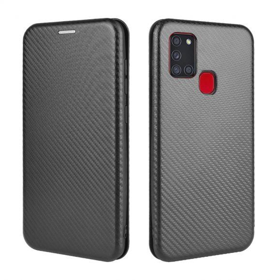 Housse Samsung Galaxy A21s Effet Fibre de Carbone