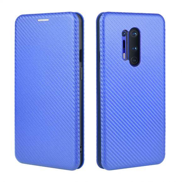 Housse OnePlus 8 Pro Effet Fibre de Carbone - Bleu