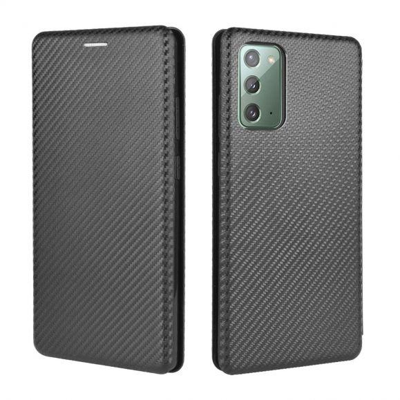 Housse Samsung Galaxy Note 20 Effet Fibre de Carbone