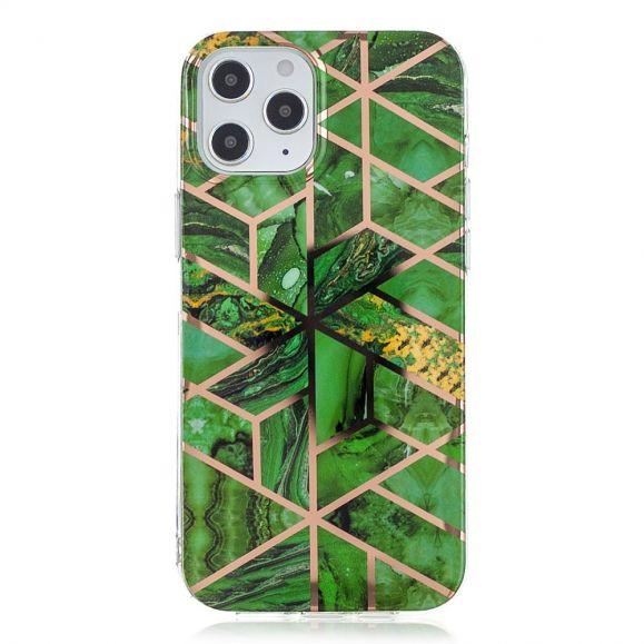 Coque iPhone 12 Pro Géométrie Émeraude