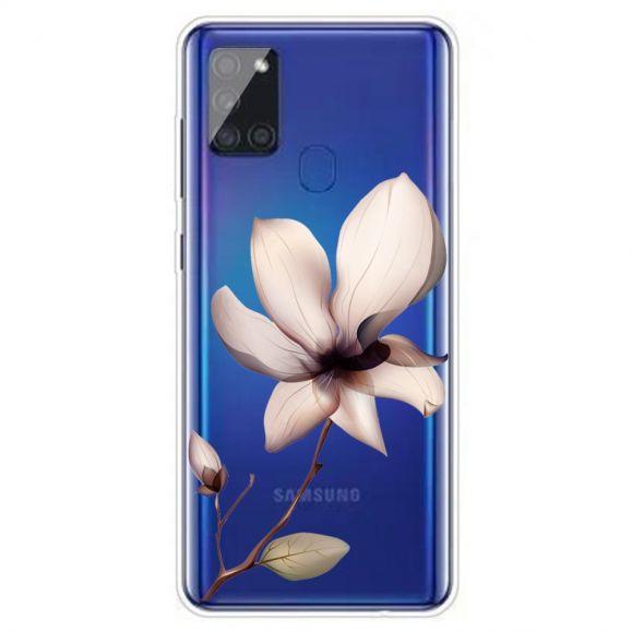 Coque Samsung Galaxy A21s fleur sauvage