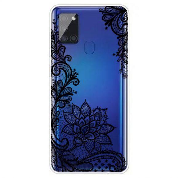 Coque Samsung Galaxy A21s fleur dentelle