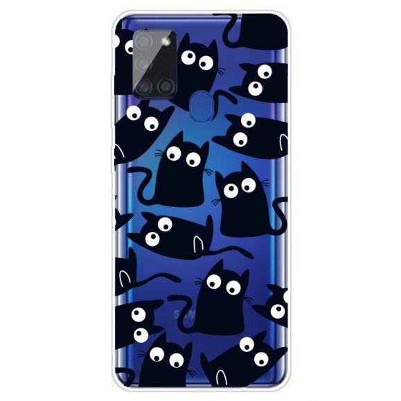 Coque Samsung Galaxy A21s chats noirs