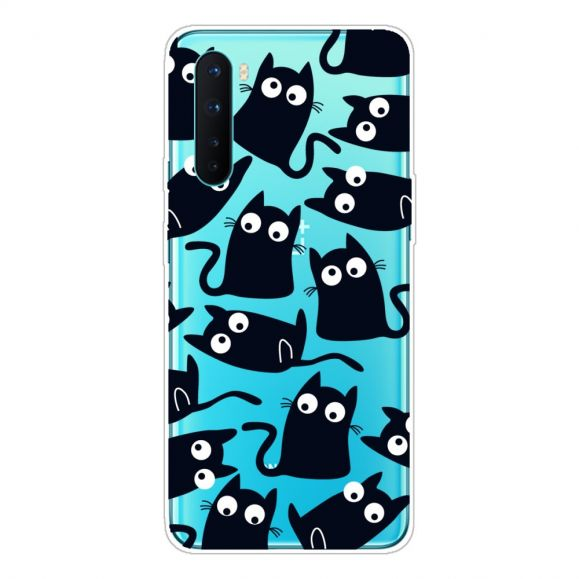 Coque OnePlus Nord chats noirs