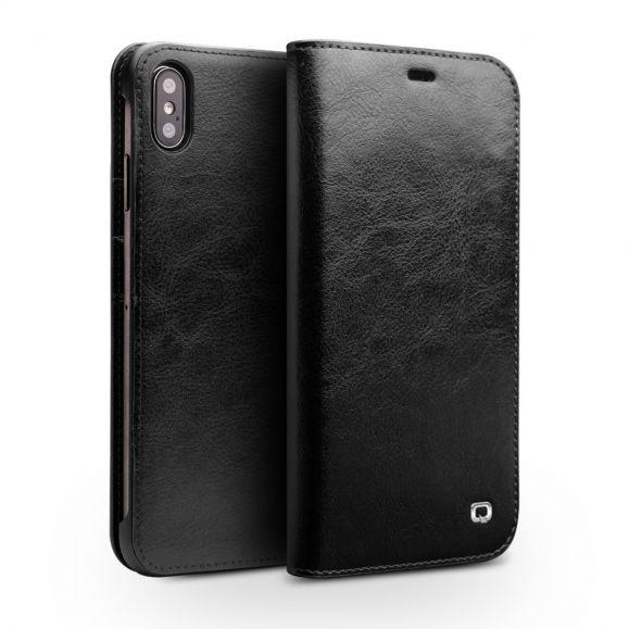 Housse iPhone XS Max en cuir véritable