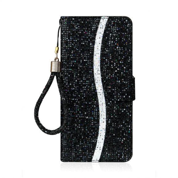 Housse Samsung Galaxy A21s Glitter Porte Cartes