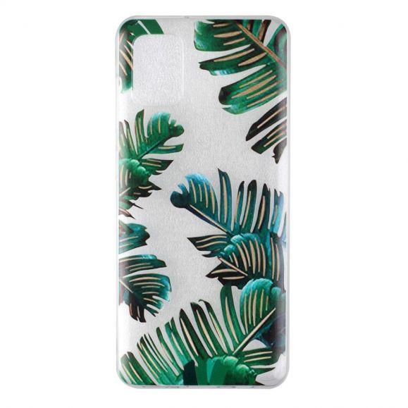 Coque Samsung Galaxy A31 feuilles vertes