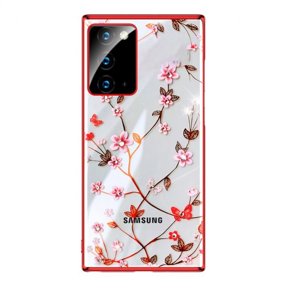 Coque Samsung Galaxy Note 20 Floral Case - Rouge