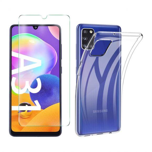 Coque + film protecteur en verre trempé pour Samsung Galaxy A31