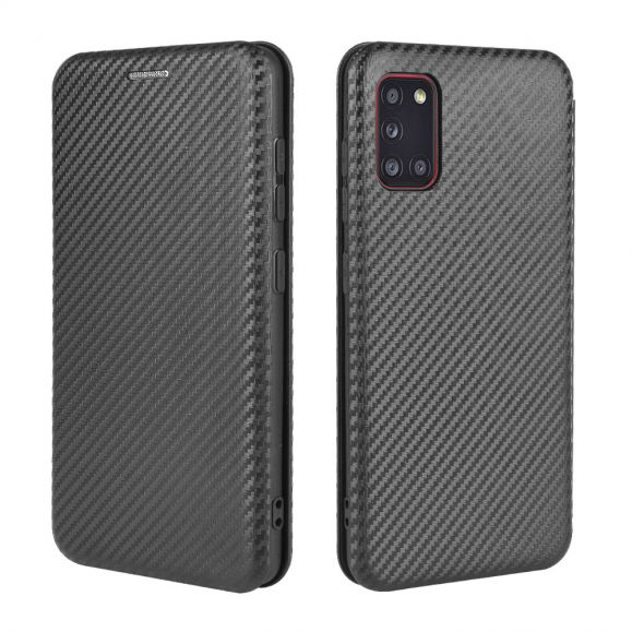 Housse Samsung Galaxy A31 Effet Fibre de Carbone