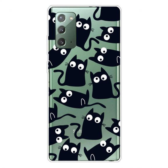 Coque Samsung Galaxy Note 20 chats noirs