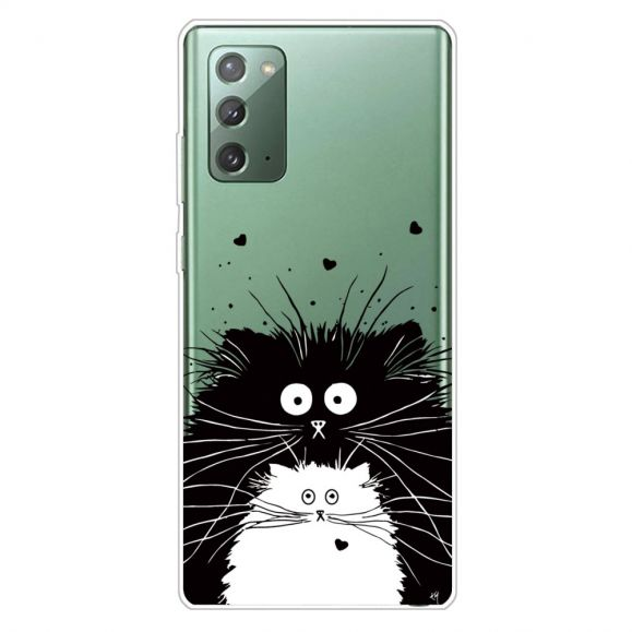 Coque Samsung Galaxy Note 20 chats noir et blanc