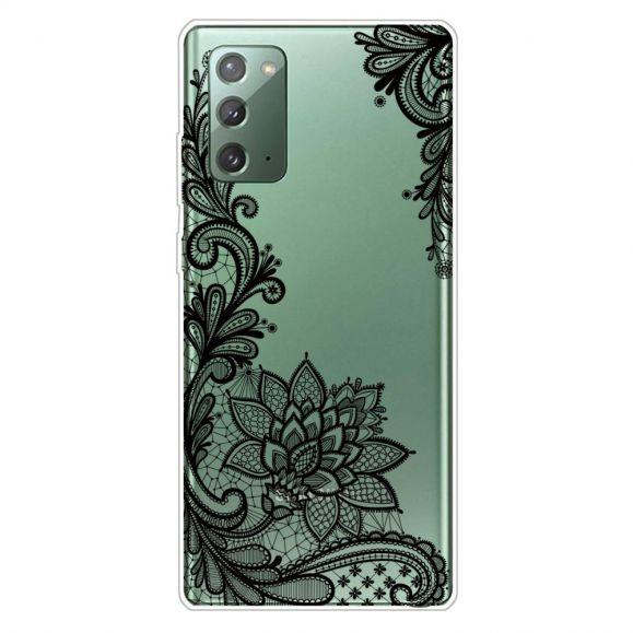 Coque Samsung Galaxy Note 20 fleur dentelle