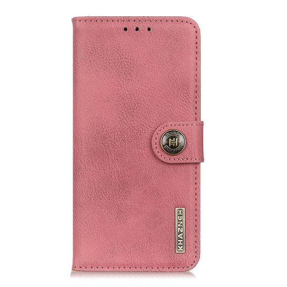 Housse Samsung Galaxy A31 KHAZNEH Effet Cuir Porte Cartes - Rose