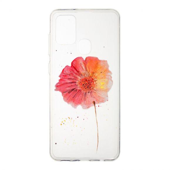 Coque Samsung Galaxy A21s fleur aquarelle