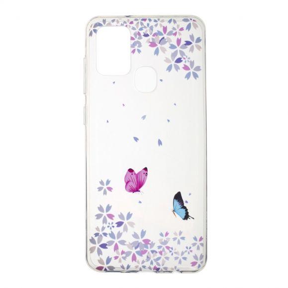 Coque Samsung Galaxy A21s Papillons Florets