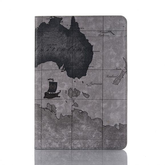 Housse Samsung Galaxy Tab S7 Carte géographique - Gris