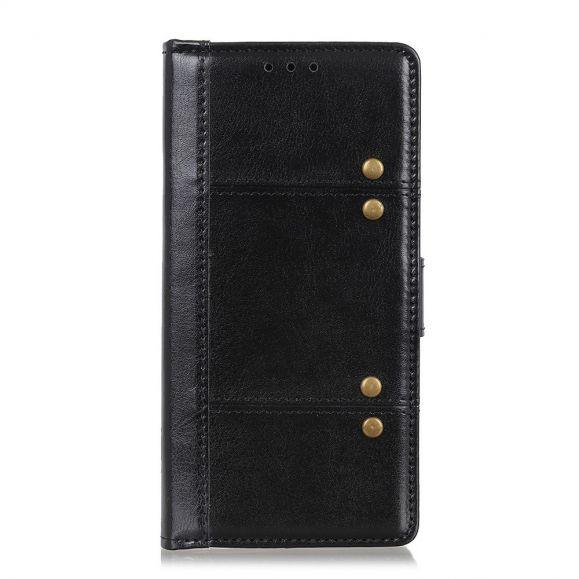 Housse Samsung Galaxy Note 20 Effet Cuir avec Rivets
