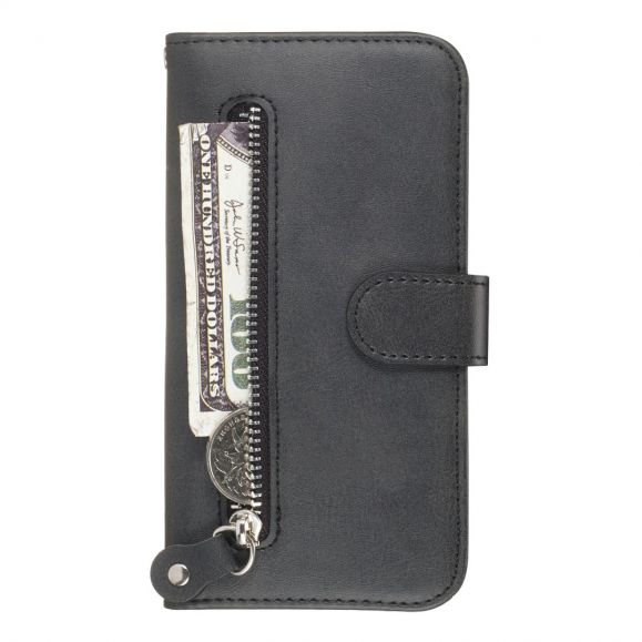 Housse Huawei Y6 2019 Zipper Pocket Fonction Support