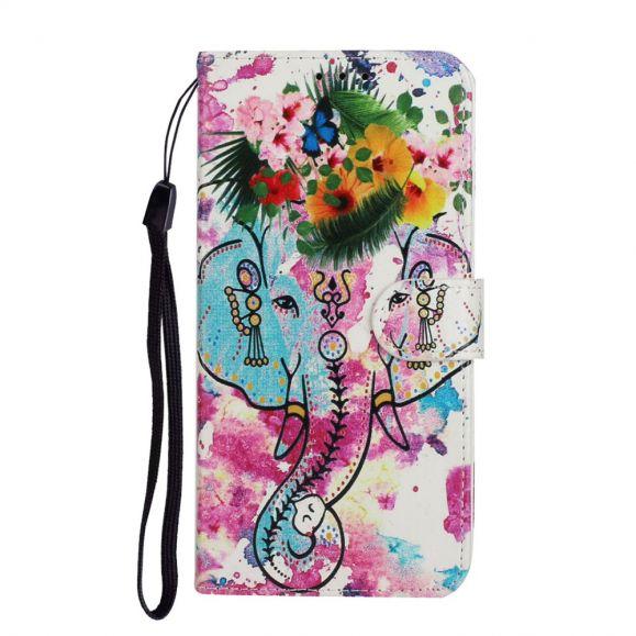Housse Samsung Galaxy A31 Éléphant tropical