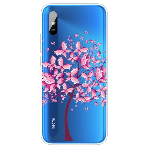 Coque Xiaomi Redmi 9A arbre à papillons