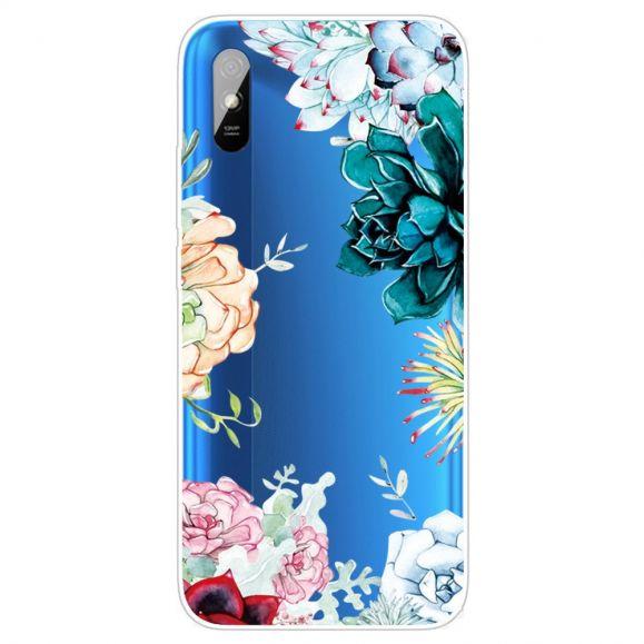 Coque Xiaomi Redmi 9A variété de fleurs
