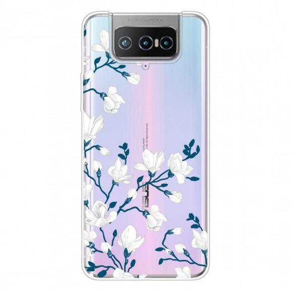 Coque Asus Zenfone 7 Pro fleurs blanches
