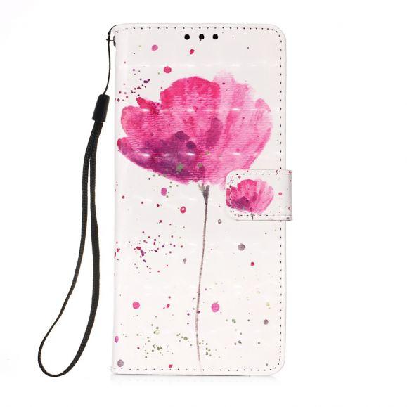 Housse Huawei P Smart 2020 fleur rose