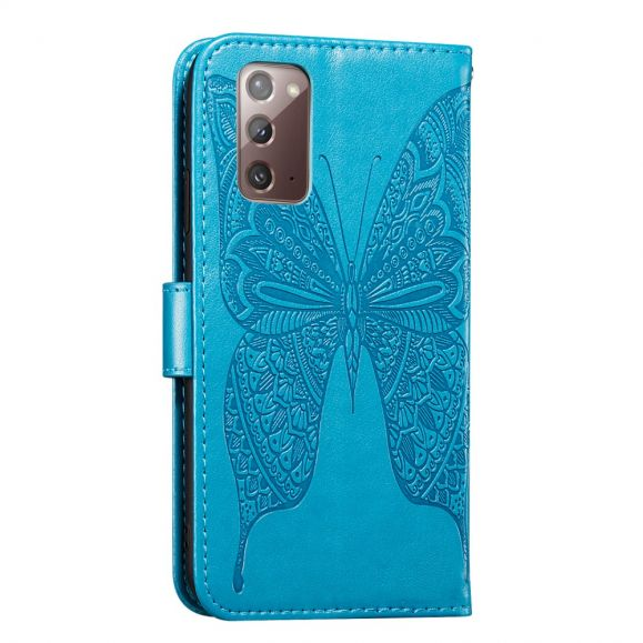 Housse Samsung Galaxy Note 20 Papillon Relief